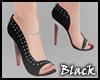 BLACK rhinestone heels