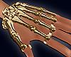 Gold Skeleton Hand M&F