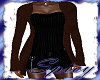 $ Brn Sw Over Blk Dress