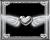 *D* Silver Heart w/Wings