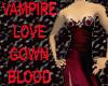 Vampire Love Gown Blood