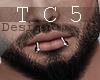 Lips piercing