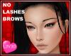 Asian No Lashes / Brows
