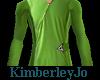 Space DressShirt Green M