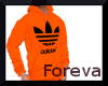 Orange Adidas Hoodie