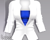! L! White Blue Jacket