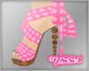 $ Pink Ball Heels