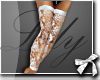 L| Lace White Stockings