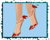xAx ~ Floral Red Shoes ~