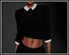 *N* Collar Sweater Blk