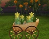 Fall Wagon Wheel Planter