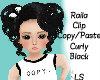 Raila Curly Black Up