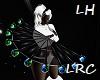 Glow Rave Fan. LEFT Hand