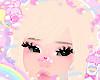 blonde&pink bangs! ♡