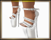 Chained Heels White