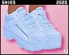 V  Pastel Blue Sneakers