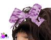 purple dots hair bow