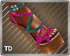 Teal Fushia Sandals