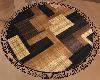 Brown Round Rug