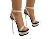 Cream & Black Heels