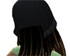 HairCap BLK w gld brown