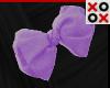 Purple Bow Hair Clip - L