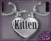 ♥ collar kitten