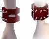 Spiked Red Wristcuff (R