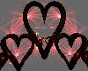 Black 'n Red Heart Seats