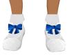 KidS-White Shoe/Blue Bow