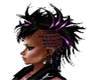 purple black rocker hair