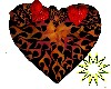 Flaming heart bed