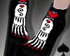 Cat~ Sugar Skull Boots