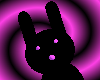 Black+ Pinkypurple Bunny