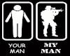 you man my man tee