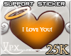 .xpx. Support Stickr 25k