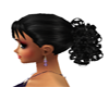 Black curly ponytail