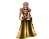 vestido largo dorado
