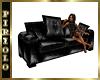 Sm Black Leather Sofa
