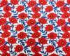 Red floral beret