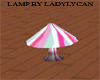 candy stripped lamp