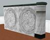 !Em Carved Marble Rose W