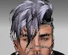 NT M Hair Silver Black