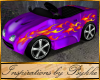 I~Lil Purple Hot Rod Car