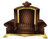 Brown and gold Throne