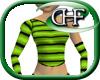 HFD Stripey Lime Green