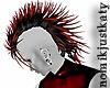 Mohawk-Black & Red-PVC
