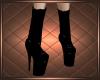 Black Fringe Boy Boots