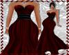XXL Black/Red Gown