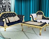 BC BELL BLUE SET COUCH